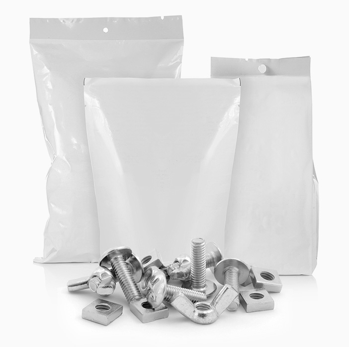 Imballaggi plastici flessibili settore meccanico